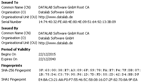 Datalab Software GmbH Root CA